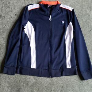 EUC Fila Sport Sz L navy blue jacket